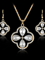 Women's European and American fashion major suit Earrings Necklace Set(1 set)8586-7