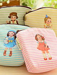 Little Girl Coin Zipper Mini Makeup Bag Wallet Purse Handbag (Random Color)