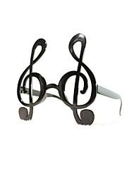 pc grappig muzieknoten geek&chique party bril
