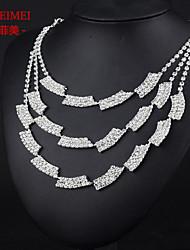 Bridal Jewelry Set Korean fashion full of diamond necklace bride wedding dress accessories multilayered