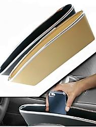 Car Styling 2 pcs/set Car Seat Pocket Catcher Car Storage Box Automobile Glove Box  Bright Style