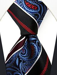 SL12 shlax&bandes alaires paisley bleu cravates rouges hommes des liens de mariage à long soie supplémentaire