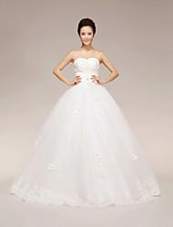 Ball Gown Floor-length Wedding Dress -Sweetheart Organza