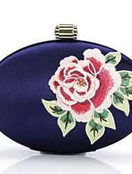Handbag Silk Evening Handbags with Chinese Wind Big Tree Peony Embroidery Jewelry Bag Handbag