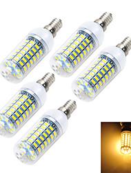 12W E14 LED лампы типа Корн T 69 SMD 5730 900-1000 lm Тёплый белый / Холодный белый AC 220-240 V 5 шт.
