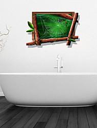Adesivos de parede adesivos de parede 3D, teia de aranha banheiro decoração da parede mural pvc adesivos