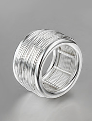 Anéis Borlas / Fashion Casamento / Pesta / Diário / Casual Jóias Prata de Lei Feminino Anéis Grossos 1pç,8 Prateado