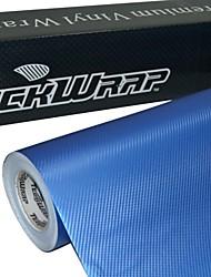 teckwrap 3d perla de fibra de carbono 1.52mx20m película envolvente coche azul de vinilo