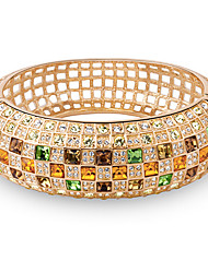 Cute / Casual Gold Plated / Gemstone & Crystal Cuff Bracelet