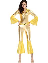 Fatos Justos ( Ouro , Poliéster/Seda tecida com Cetim , Espetáculo/Roupas de Balada ) - de Espetáculo/Roupas de Balada - Mulheres