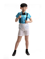 Performance Outfits Children's Performance Polyester Fashion Sequins Outfit Blue/Pink Kids Dance Costumes
