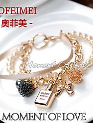 Korea Pearl Ribbon wristlet perfume European and American fashion bracelet multi-female clothing accessories