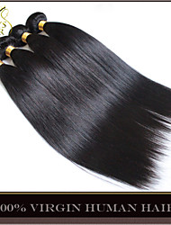 """10Pcs Lot 8-30"""" Wholesale Unprocessed 6A Brazilian Virgin Hair Straight Natural Black Human Hair Weave Wefts Tangle Free"""