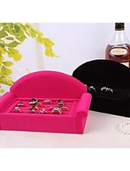 Solid Wood Sofa Shape Bracket Ring Jewelry Display Jewelry Storage