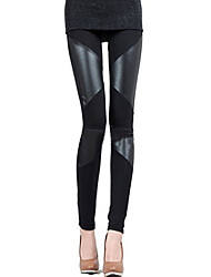 Women Others/PU Medium Cross - spliced/PU Legging