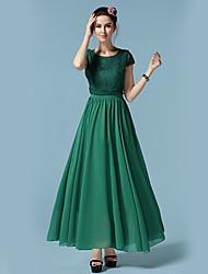 Women's Casual / Day Dress Maxi Chiffon / Lace