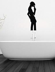 stickers muraux Stickers muraux, garçon penser décoration salle de bain murale pvc stickers muraux