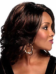 The New Middle-Aged Blend Color Brown Hair Wig