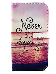 Never Stop Dreaming  Pattern PU Leather Case with Magnetic Snap and Card Slot for Alcatel One Touch Pop C7