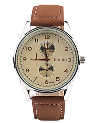 Women's Fashion Three Eye Scale Design Round Dial  PU Leather Strap Quartz Movement Wrist Watches(Assorted Colors)