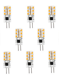 3W G4 Faretti LED 24 SMD 2835 100-120 lm Bianco caldo / Luce fredda AC 220-240 V 10 pezzi