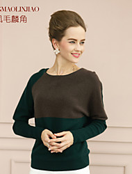 Women's Casual/Party/Work Micro-elastic Long Sleeve Cashmere (Cashmere)