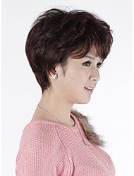 Capless Short Wavy Human Hair Wigs