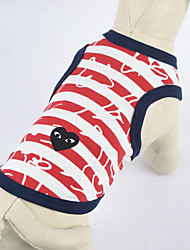 Red Cross White Stripe Cotton Cartoon Vest for Pets Dogs (Assorted Sizes)