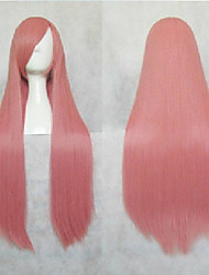beliebte rosa Kunsthaar Frau cosplay Perücke lange Gerade animierte Cartoon Perücken Perücken Party Perücken volle Perücke