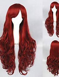 32inch Long Dark Red Beauiful Lolita wig