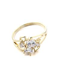 Women's Brass Fashion CZ Ring