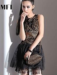 Women's Black Dress , Work Sleeveless