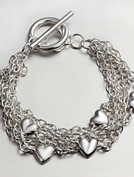 Italy 925 Silver heart Design Bracelet New Design Alex And Ani Bracelets Cuff Bracelet