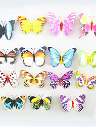 Fridge magnets, magnet sucker with butterflies, colorful butterfly high simulation