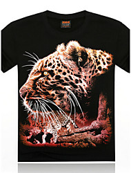T-Shirts ( Algodão/Algodão Organico ) MEN - Casual Redondo - Manga Curta