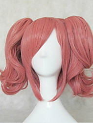 Top Quality Anime Cospaly Wigs Macross Makina Nakajima Wig Long Pink Curly High Temperature Hair Wigs