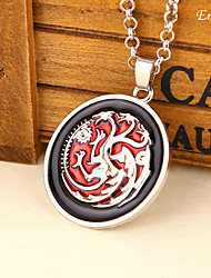 Euner® Movie Jewelry The Song of Ice and Fire Game Of The Thrones Tango Liam Ron Men Pendants Alloy Chain Necklaces