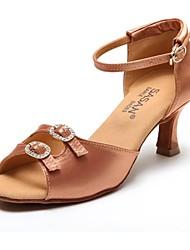 Sapatos de Dança ( Preto/Castanho ) - Mulheres - Não Personalizável - Latim