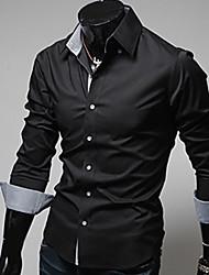 moda camisa de cor sólida dos homens Etro