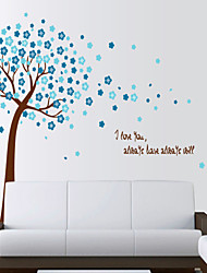 Wall Stickers Wall Decals, Style The Flowers Trees PVC Wall Stickers