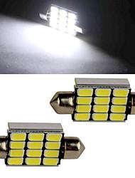 5W Lichtdekoration 12 SMD 5630 350-450 lm Kühles Weiß Dekorativ DC 12 V 2 Stück