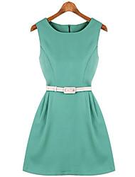 el vestido del tanque sencillo talle temperamento europeo Diors de las mujeres