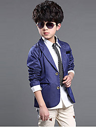 Boy's Cotton Blend Suit & Blazer , Summer/Spring/Fall Long Sleeve