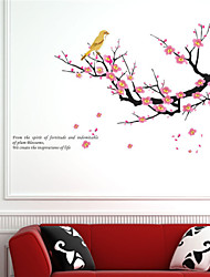Wall Stickers Wall Decals, Plum Flower PVC Wall Stickers