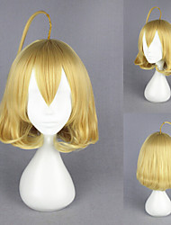 14inch Short Akuma no Riddle-Ahoge Light Yellow Synthetic Anime Cosplay Wig