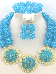 Fashion Crystal African Beads Jewelry Set Nigerian Wedding Jewelry Set Costume Jewelry Set