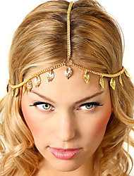 Bohemian Women's Leaf Drop Head Chain Jewelry Forehead Dance Headpiece Hair Band