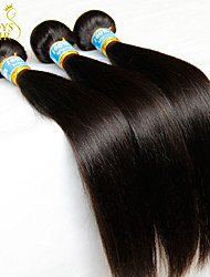 "3Pcs Lot 8""-30"" Virgin Peruvian Straight Hair Wefts Natural Black 1B# Cheap 5A Remy Human Hair Weave Bundles Tangle Free"