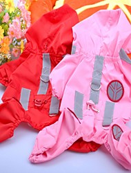 Dog Rain Coat Red / Pink / Rose Dog Clothes Summer Cosplay / Waterproof
