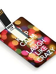 4gb houd kalm en lachen als een gek ontwerp kaart usb flash drive